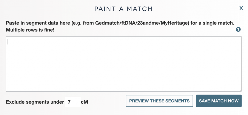 The 'Paint a match' form